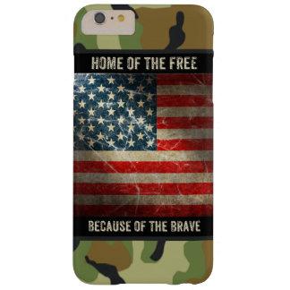 Grunge USA Flag on Camouflage 2 iPhone 6 Plus Case