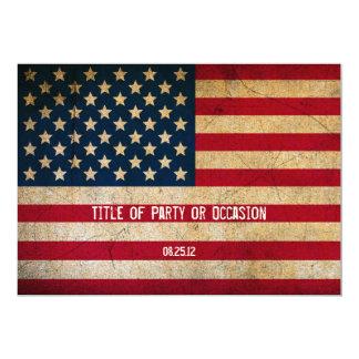 Grunge USA Party Invitation / Vintage USA