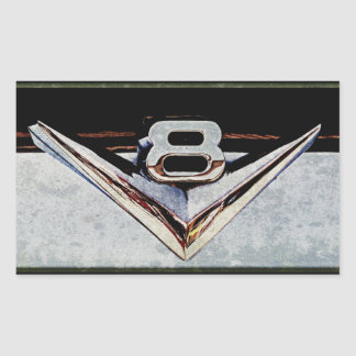 Grunge V8 Big Block Emblem Sticker