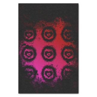 Grunge Valentine Heart Tissue Paper