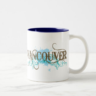 Grunge Vancouver Two-Tone Coffee Mug
