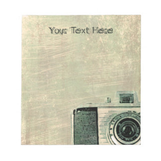 Grunge Vingtage Camera Personalized Notepad