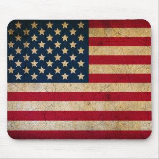 Grunge Vintage American flag USA Mouse Pad