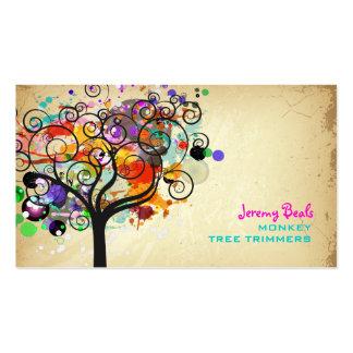 ♥♥♥♥ grunge vintage de trimmers d arbre de modèle de carte de visite