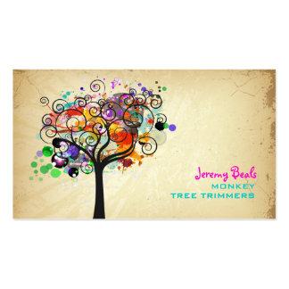 ♥♥♥♥ grunge vintage de trimmers d'arbre de PixDezi Modèles De Cartes De Visite