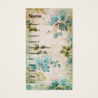 Grunge Vintage Leaves and Vine Business Card