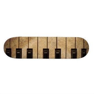 Grunge vintage piano skateboard decks