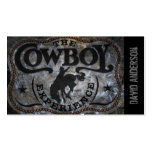 grunge vintage rustic western country cowboy rodeo business card templates