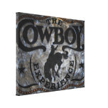 grunge vintage rustic western country cowboy rodeo canvas prints