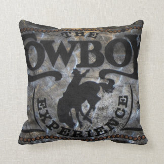 grunge vintage rustic western country cowboy rodeo throw pillow