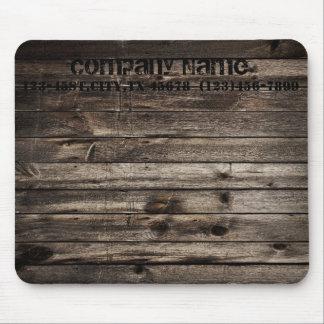 grunge vintage wood grain construction business mouse pad
