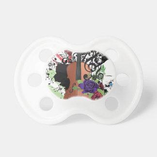 Grunge Violin Illustration2 Baby Pacifier