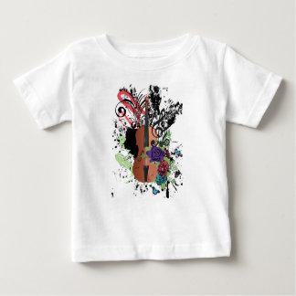 Grunge Violin Illustration2 Baby T-Shirt