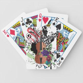 Grunge Violin Illustration2 Bicycle Playing Cards