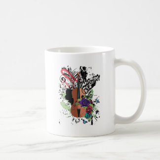 Grunge Violin Illustration2 Coffee Mug