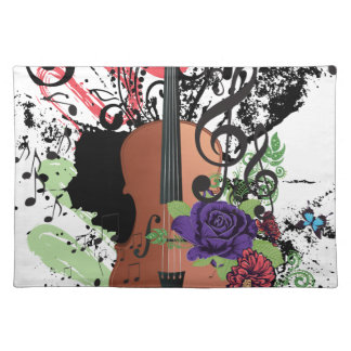 Grunge Violin Illustration2 Placemat