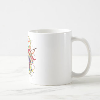 Grunge Violin Illustration Coffee Mug