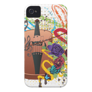 Grunge Violin Illustration iPhone 4 Cover
