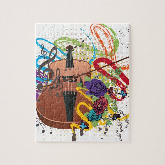 Grunge Violin Illustration Jigsaw Puzzle
