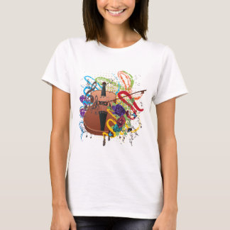 Grunge Violin Illustration T-Shirt