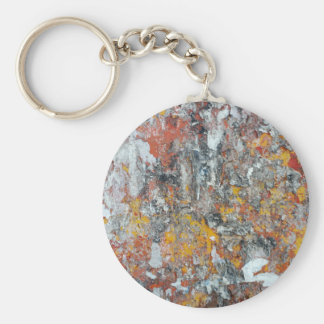 grunge wall texture pattern shriveled abstract pap basic round button keychain