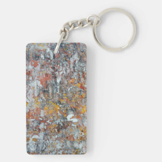 grunge wall texture pattern shriveled abstract pap Double-Sided rectangular acrylic keychain