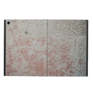Grunge Wall With Red Paint iPad Case
