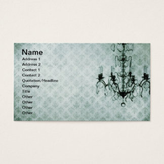 Grunge Wallpaper Chandelier 12 Business Card