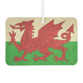 Grunge Welsh Dragon flag illustration Air Freshener