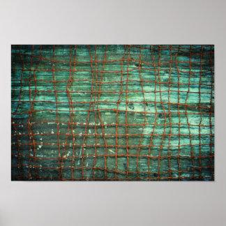 Grunge Wire Texture Poster