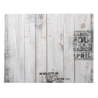 """Grunge wooden 11"""" x 8.5"""" Notepad - 40 pages"""