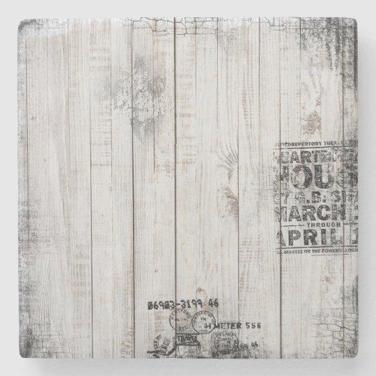 Grunge wooden Marble Stone Coaster