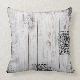"Grunge wooden Polyester Throw Pillow 20"" x 20"""