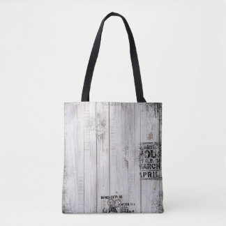 Grunge wooden Tote Bag