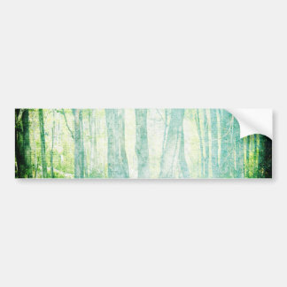 Grunge Woods Bumper Sticker
