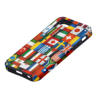 Grunge World Flags Collage Design iPhone 5 Cover