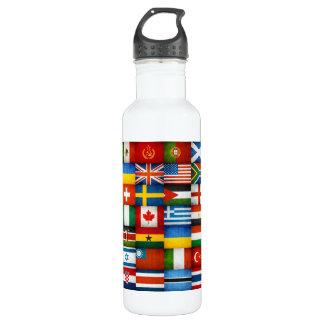 Grunge World Flags Collage Designer 710 Ml Water Bottle