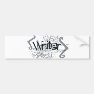 Grunge Writer Bumper Sticker