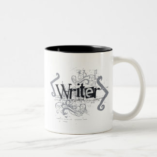 Grunge Writer Two-Tone Coffee Mug