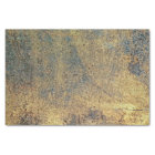 Grunge Yellow & Blue Rusted Metal Pattern Tissue Paper
