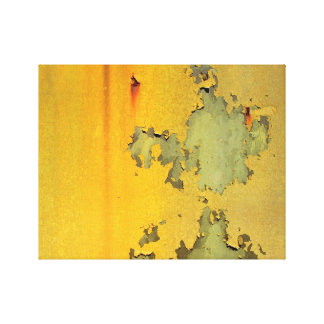 Grunge Yellow Canvas Print