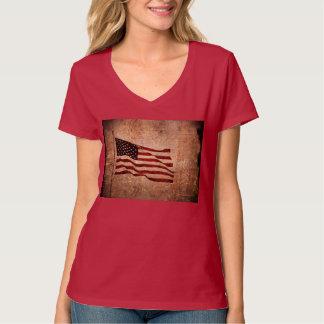 Grunged American Flag Tshirt