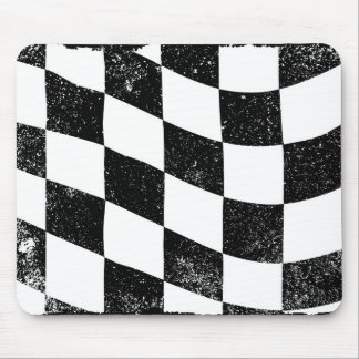 Grunged Chequered Flag Mouse Pad