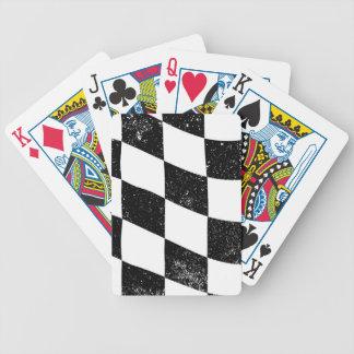 Grunged Chequered Flag Poker Deck