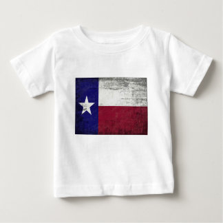 Grunged flag of texas baby T-Shirt