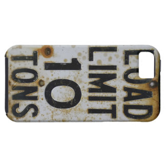 Grungy 1950s Load Limit US Sign 1950s iPhone 5 Cases