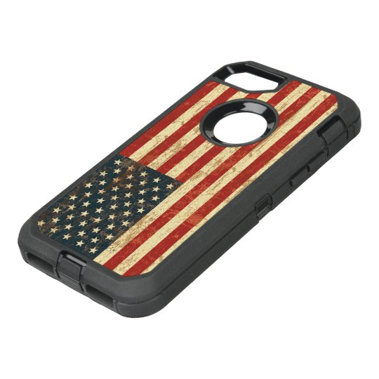 Grungy American Flag USA OtterBox Defender iPhone 8/7 Case