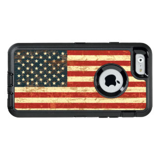 Grungy American Flag USA OtterBox Defender iPhone Case