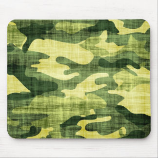 Grungy Army Camouflage Mouse Pad