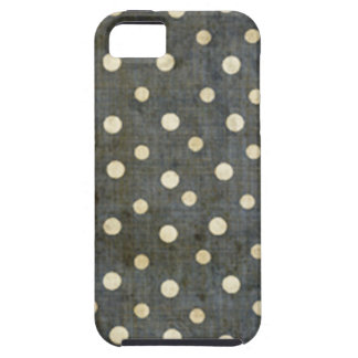 Grungy Black and White Polka Dot Pattern iPhone 5 Cover